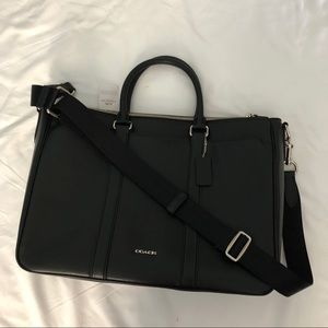 Coach NEW Black Metropolitan Double Zip Briefcase